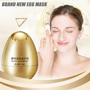 4pcs egg shell yeast mask cream peeling cream moisturizing and moisturizing, used for skin care egg lubricatin MPwell