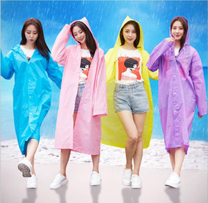 New raincoat travel outdoor fashion adult non disposable EVA thickened raincoat jghjytjyt