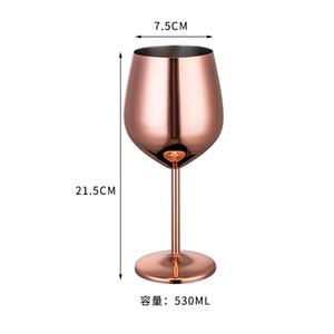 Rose Gold Color Champagner Glas 304 Edelstahl Cocktail Cups Große Größe Rotweinbecher Neue Ankunft 22zy2 L1