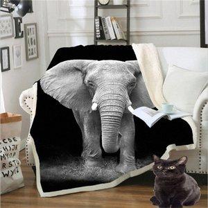 Plüschdecke Printed Cotton Fleece-Decken-Sofa 130cmX150cm Weighted Weihnachtsdekorationen für Haus 2zsP #