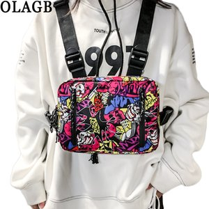 New Graffiti Hip-Hop Sac poitrine Mode double ouverture Rectangle Streetwear sgraffites Writer Rig pack G205 Chest C1026