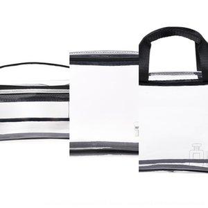mPOKM Прозрачного ТПУ сумка защита четыре чехлов комплекта водонепроницаемой Cosmetic окружающей среды косметической bagtravel удобной большая емкость с четырьмя частями