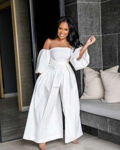 Casual Tok Renk Kadınlar tulum Fener Kol Kadınlar Gevşek Tulumlar Moda Boyun Tasarımcı Kadın Giyim Slash