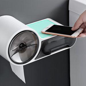 Impermeable Dispensador de inodoro Tenedor de papel higiénico Caja de papel Tissue Caja de pared Rollo de pared Caja de almacenamiento de papel Accesorios de baño HWB4752