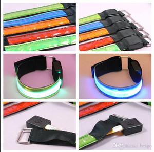 LED Safety Reflective Armband Bicycle Flashing Sports Arm Band Warning Night LED Flash Strap Glow Belt Halloween Party Supplies VT0862