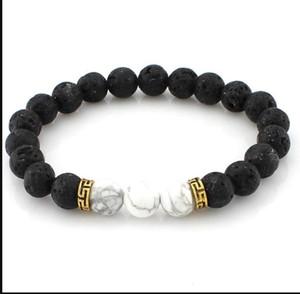 Difusor de aceite esencial de las mujeres Piedra natural Bangle Bangle Lava Rock Beads encantos Pulseras para hombres S Chakra Crafts Jewelry PS1356