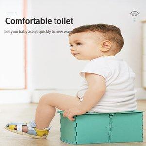 Foldable Infant Travel Potty Folding Children's Toilet Toddler Portable Training Toilet Baby Outdoor Potty Car Toilet for Kids LJ201110