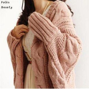 Autumn Winter Knitted Cardigans Coat Women Fashion Long Sleeve Batwing Poncho Sweater Beautiful Womans Crochet Cardigan T200319