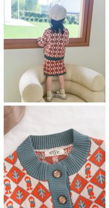 2020 New Western Style Trend Wind Of Vogue Small Sweet Baby Girl Sweater Knitting Dress Autumn Winter knitting Skirt With Shoulder-Strap