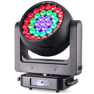2pcs Newest DJ Disco Stage Light 37 x 20w 4-in-1 RGBW zoom lyre dmx led beam bee eye moving head wash light