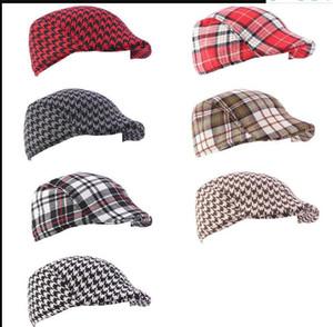 2020 Fotografía Gorros nuevos cabritos Niñas Niños Beret sombreros de invierno los niños del otoño Atrezzo Accesorios para bebé Caps niños boina a cuadros 2-6y