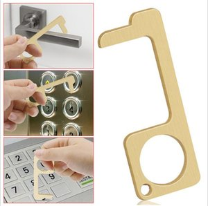Door Opener- Handheld Contactless Rod for Elevator Button Press Hand Lever Health Protect Keychain Press Elevator Tool A2045