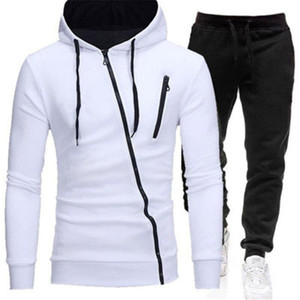 Mens Thicken Outdoor Sports Sets Fashion Trend Long Sleeve Zipper Hooded Sweatshirt Pants Suits Designer Male Spring New Casual Tracksuits