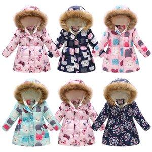 Botezai Baby Girl Cotton Etre en automne Hiver Fourrure De Fourrure À Capuche Enfants Veste Enfants Dessin animé Manteau Impression Kid Clohting Vêtements d'extérieur