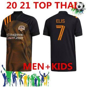 Livraison gratuite 2020 Houston Dynamo Soccer Jersey 20/21 MLS # 7 ELIS Manotas uniformes Mens Dynamo # 13 RAMIREZ DARWIN Chemises JR de football