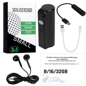 Q70 Mini Digital Voice Recorder Recorder Pen BAR Discreet Hidden 8GB 16 GB Penna di registrazione 32 GB con microfono HD con un tasto Audio registratore magnetico