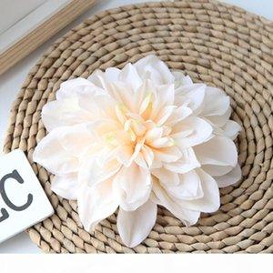 Fiore artificiale dahlia 15 cm teste di fiori all'ingrosso per la decorazione domestica di nozze accessori per capelli da sposa artigianato artigianato