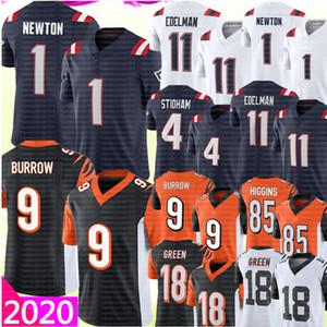 1 Cam Newton 11 Julian Edelman Jersey 4 Jarrett Stidham Jersey 9 Joe Burrow Jersey A.j. Green Tee Higgins Jerseys Football