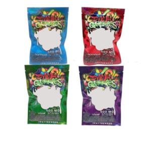 Embalaje Embalaje 500 mg Dank Gummies Bolsos Gusanos EDIBLES Osos Cubos Bolsas Gummanas al Por Mayor de Fábrica 2020 Embalaje Empaquetado