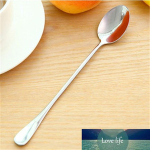 1PC Long Handled Stainless Steel Coffee Spoon Ice Cream Dessert Flatware Tableware Kitchen Accessories Home Supplies