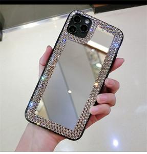 Maquiagem Caso de espelho para iphone 12 Pro Max Magic espelho Casos de capa de cristal de luxo para iphone 7 8 mais xs 11 pro max