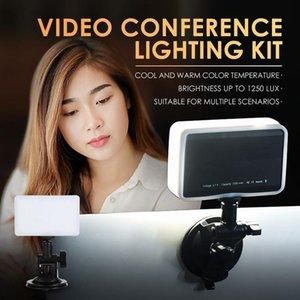 Clip Video Conference Lighting Kit Lumière pour vidéoconférence Conférence pour ordinateur portable Conférence pour ordinateur portable Zoom Call éclairage à distance