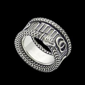 Высокое качество Посеребренное кольцо Трехмерное кольцо на полоску King Snake для унисекс личности хип-хоп кольцо мода ювелирные изделия