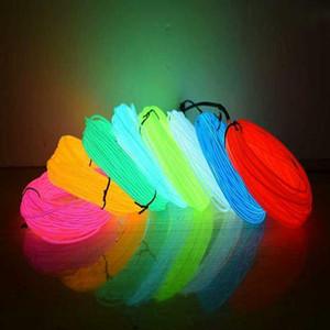 1m 2m 5m 10m Flexible luz de neón del resplandor del EL de alambre tubo de la cuerda tira llevada a prueba de agua Luces de neón por bdetoys Dancing Shoes Ropa de coches Swy bbyvzN
