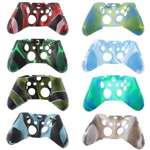 Camuflaje Gamepad Silicone Funda para Xbox One antideslizante Sudor y polvo a prueba de polvo Manija de silicona Funda protectora