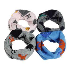Cartoon dinosaur kids scarf 2020 new autumn winter baby scarf boys scarf Woolen boys ring kids ring baby scarves kids scarves B2675