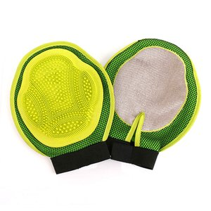 Dog Glove Pet Brush Cleaning Hair Glove Cat Comb Cleaning Animal Massage Hair Removal Grooming Glove