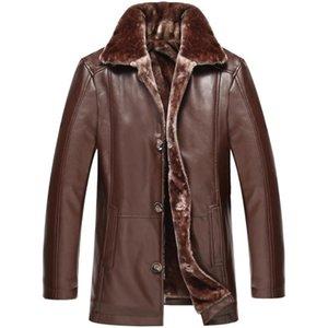 FGKKS Mode Marke Männer Leder Jacken Herbst Neue Männchen Hohe Qualität Faux PU Jacke Mantel Herrenmode Lederjacken Mäntel Mäntel