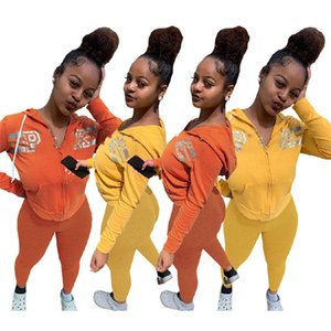 Pink Brand Designer Women Outfits fall winter 2 piece set sweatsuit long sleeve tracksuit S-2XL sportswear hoodies+pants jogger suit 4101