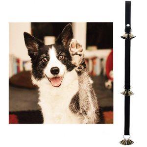 Регулируемые собак Колокола для Potty Training дверной звонок Rope Housetraining Связь Сигнализация Puppy двери Bell Dogs со взломом BWA2007