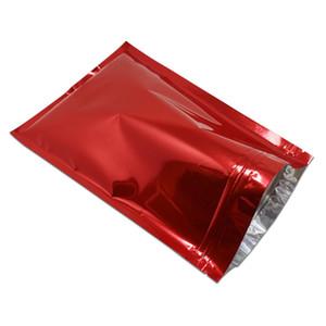 50pcs Lot Colorful Zip Lock Aluminum Foil Food Packaging Storage Bag Self Sealing Heat Seal Coffee Tea Snacks Packaging Pouch H bbyBvO
