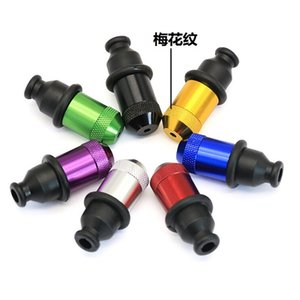 53x25mm Metal Zeppelin Pipe Colored Dry Herb Tobacco Smoking Nipple Pacifier Snuff Tube Hand Detachable Plastic Pipes Hot
