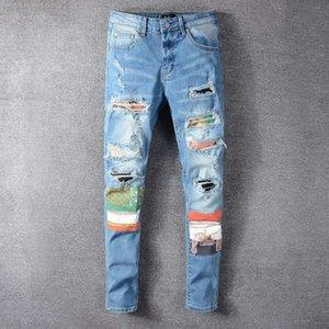 20ss Top High Quality Designer Mens Amirl Jeans Rock Motocycle Luxury Denim Men Fashion Streetwear Biker Man Popular Hip Hop Pants Trousers