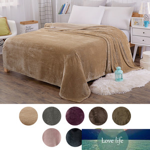 Soft Warm Coral Fleece Blanket Winter Sheet Bedspread Sofa Plaid Throw 7 Size Light Thin Mechanical Watch Flannel Blankets