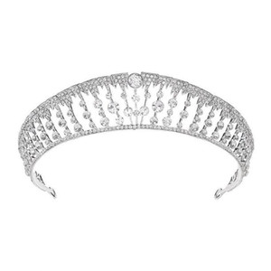 Bridal Crown European Princess Rhinestone Zircon Crown Luxury Atmospheric Crown Wedding Style Accessories Headdress