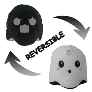 Hot Selling Reversible Plush Doll- Double Side Flip Cartoon Ghost Mini Stuffed Doll for Halloween Gifts