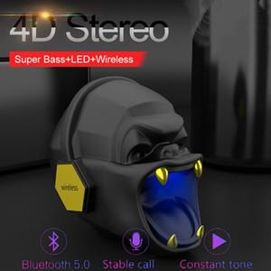 Gorila portátil altavoz inalámbrico Bluetooth 5.0 Mini gorila altavoz subwoofer móvil Luz de barra de sonido de usos múltiples