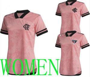 2020 2021 Flamengo Women Camisetas Brasil Octubre Rosa São Paulo SAO SC Internacional 특수 축구 유니폼 20 21 Jersey Shirts