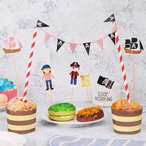Tinksky Cartoon Birthday Cake Garland Bunting Flag Topper Wraper Sets Decorating Kits Baby Boy Shower Pirate Party Favors sqcqEd sports2010