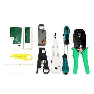 12 Dans 1 Computer Network Repair Tool Kit câble LAN testeur coupe-fil tournevis Pince à sertir Maintenance Tool Set
