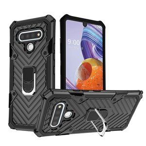 Shockpoof Protective Case Magnetic Car Mount Ring Kickstand For LG Harmony 4 Xpression Plus 3 Premier Pro Plus,styo 6 aristo 5 k31 k51 Q51