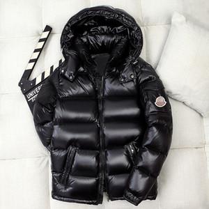 MONC Monestier De Clermont Франция Мужчины пуховик Индивидуальный знак Зимняя куртка с капюшоном Молодые пары пуховая куртка Утолщение