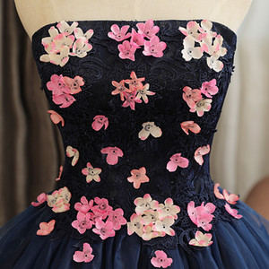 Quinceanera Dresses Mrs Win The Party Prom Elegant Strapless Ball Gown Sweet Flower Formal Homecoming Quinceanera DRE