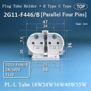 2G11 -F446 / B lâmpada fluorescente Titulares H Tubo 4pin lâmpada de base de topo Luz soquete para lâmpada Tabela tubo Pl -L tampa do tubo