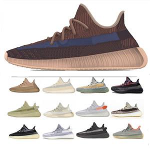 PK Version Kanye West Sneaker Yecher Carbon Abez Israfil Oreo Sulfer reflective Eliada Cinder Desert Sage Marsh Clay men women running shoes