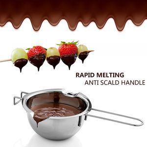 Edelstahl-Schokoladenschmelztopf Doppelkessel-Milchschale Buttersüßigkeit Wärmer Gebäck Backwerkzeuge Kostenloser Versand